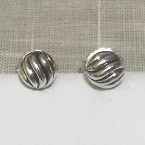 DAVID YURMAN Sterling Silver Cable Stud Earrings